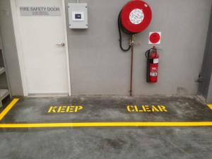 warehouse safety linemarking